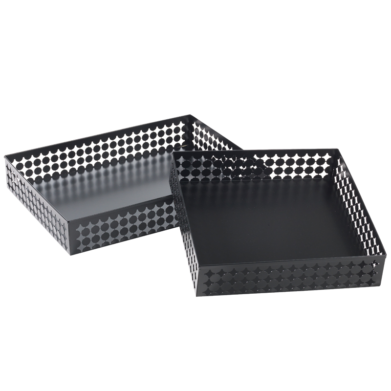 Brödkorg aluminiumplåt,svart 600x450x100