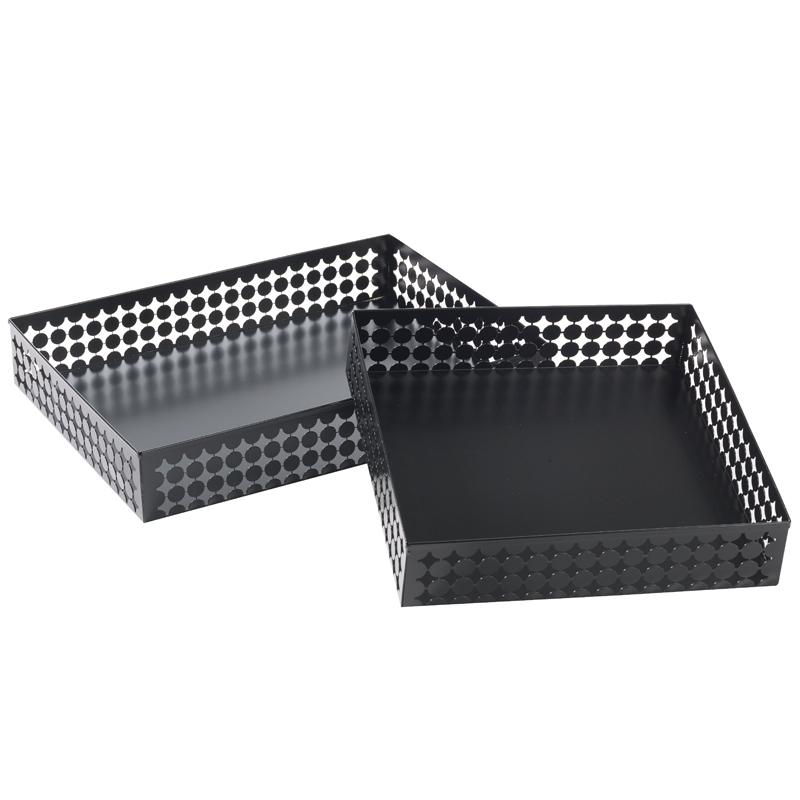Brödkorg aluminiumplåt,svart 450x450x100