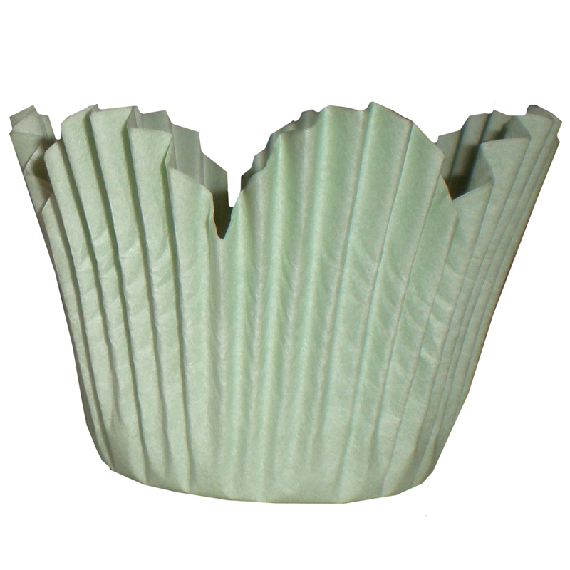 Bakform blomma grön Ø50xH35mm 1000 st/fp