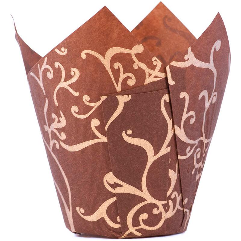 Tulip Lily brun/guld C50xH95mm 1000 st/fp