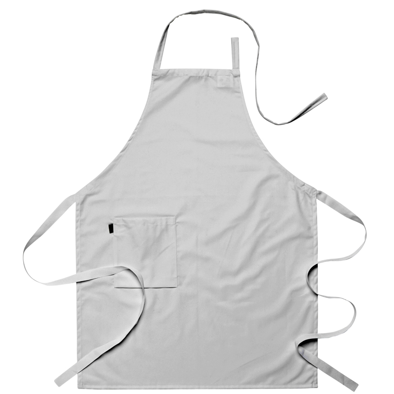 Bröstlappsförkläde vit