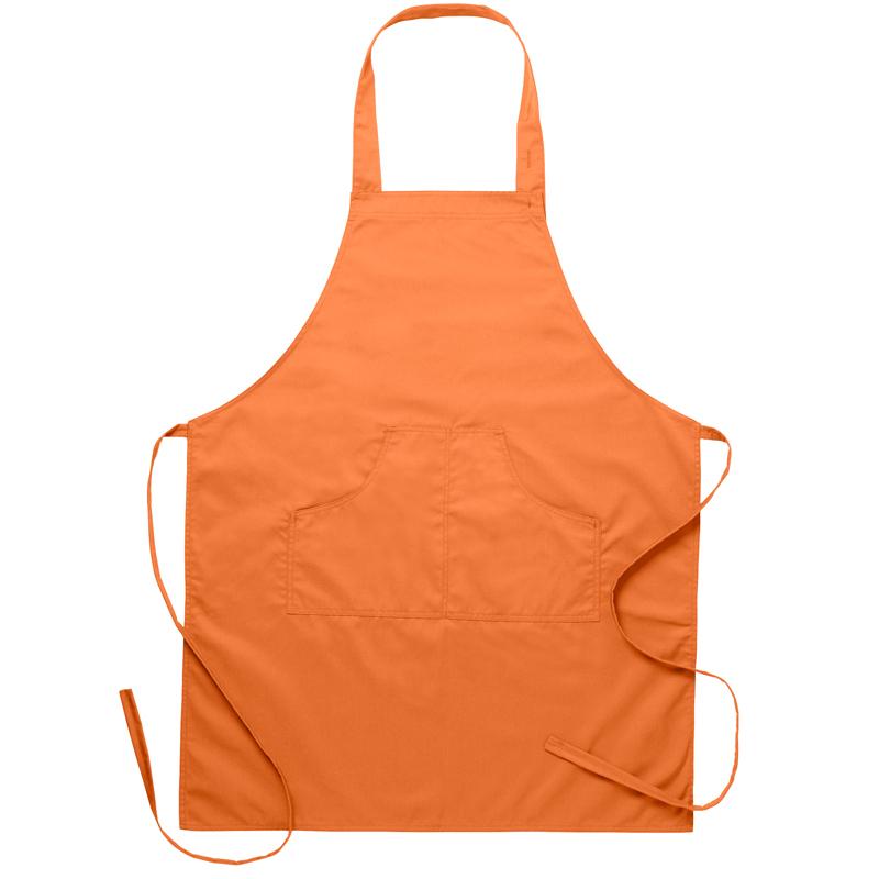 Bröstlappsförkläde orange