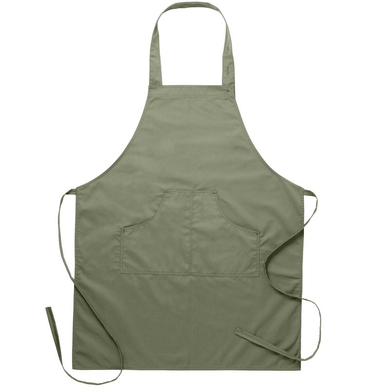 Bröstlappsförkläde olivgrön