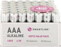 Batteri Alkaliskt LR03 1,5V AAA 42-pack