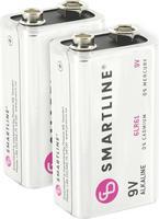 Alkaliskt batteri 6LR61 9V 2-pack