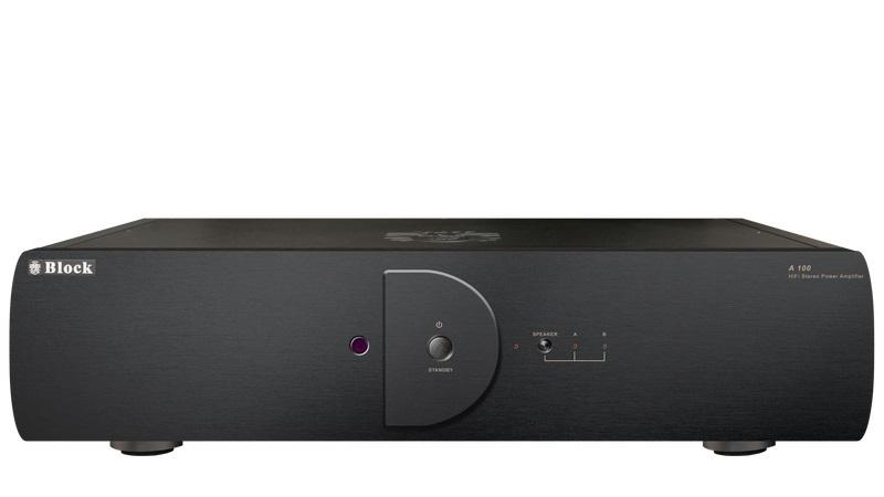 bild 1 av Block A-100 stereo slutsteg svart