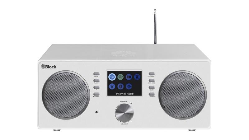 bild 1 av Block CR-20 Internetradio med Multiroom funktion Vit