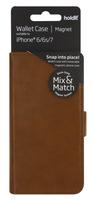 Plånboksväska Mix & Match Magnet System iPhone 6/6s/7/8 Brun