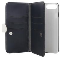 Plånboksfodral 7-fak Extended II iPhone 6/6s/7/8 Mörkblå/Vit