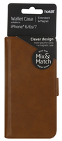 Plånboksväska Extended II Mix & Match iPhone 6/6s/7/8 Brun