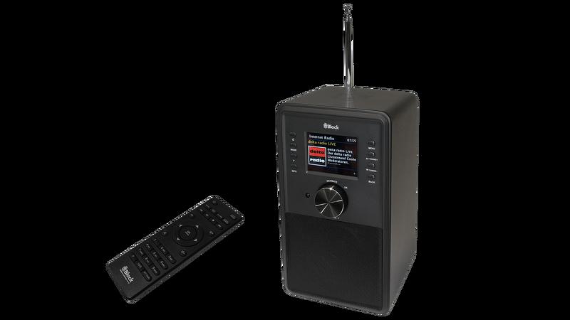 bild 1 av Block CR-10 Svart Internetradio med multiroom funktion