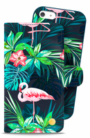 Style by Holdit iPhone 5/5S/SE Plånboksväska London Flamingo Bloom