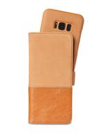 Selected Plånboksväska magnet Galaxy S8+ Brown Tränningenäs