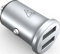 Smartline Edition Billaddare Compact 4.8A Alu. Silver