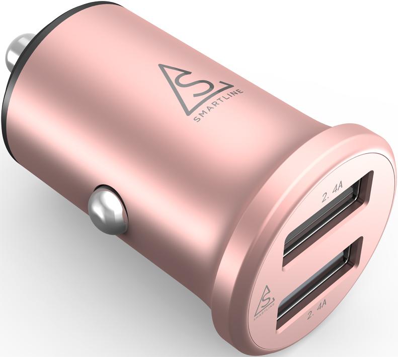 bild 1 av Smartline Edition Billaddare Compact 4.8A Alu. Rose Pink