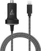 Smartline Billaddare 2.4A 1m Svart/vit Lightning