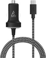 Billaddare 2.1A 1m Svart/vit USB-C