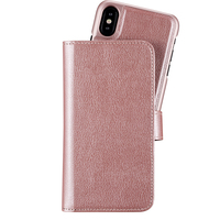 Holdit Plånboksväska Extended Magnet iPhone X/Xs Pink