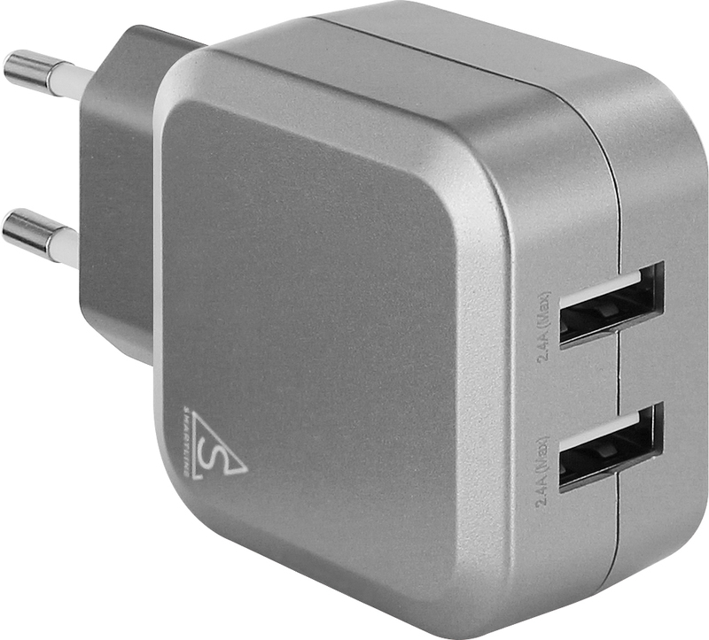 bild 1 av SmartLine Edition USB Laddare 100-240V 2 x USB 4.8A, Silver