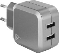 SmartLine Edition USB Laddare 100-240V 2 x USB 4.8A, Silver