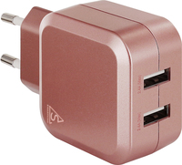 SmartLine Edition USB Laddare 100-240V 2 x USB 4.8A, Rose Guld