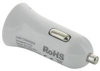 Billaddare USB 12-24V 2.4A, Vit