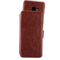 Wallet Case Magnet Galaxy S9 Berlin Dark Brown