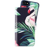Holdit Wallet Case Flerfack Magnet iPhone 6/6s/7/8 Flamingo Hibiskus