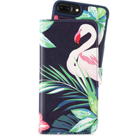 Holdit Wallet Case Mag iP6/7/8 Plus Flamingo Hibiskus