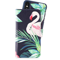 Holdit Wallet Case Magnet iPhone X/Xs Flamingo Hibiskus