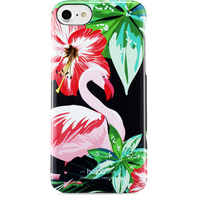 Holdit Phone Case iPhone 6/6s/7/8 Flamingo Hibiskus
