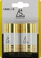 Batteri Alkaliskt LR20 1,5V D 2-pack