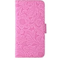 Holdit Plånboksväska med Magnet iPhone X Pink Medaljong