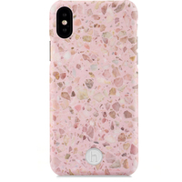Mobilskal iPhone X/Xs Paris Terrazzo Rose Quartz