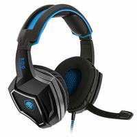 Spirit of Gamer XPERT-H500 BLUE: PC Gaming Headset USB SURROUND 7.1