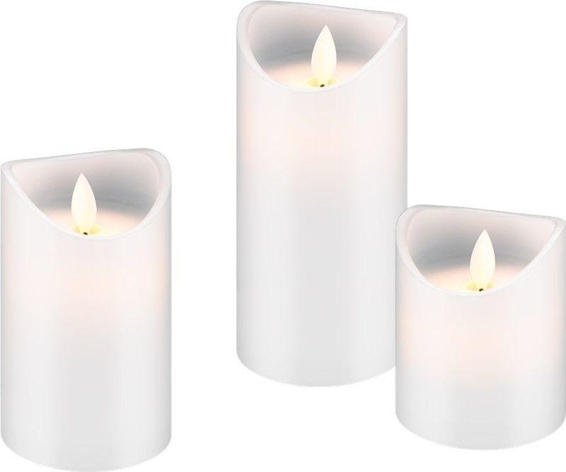 bild 1 av Set med 3 LED riktiga vaxljus, vit