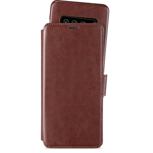 Style Plånboksväska Magnet Galaxy S10 Berlin Dark Brown