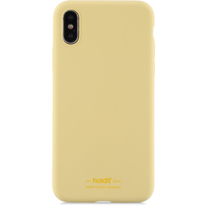 Holdit Mobilskal Silicone iPhone X/Xs Yellow
