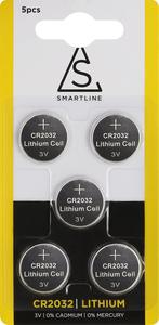Knappcell batteri Lithium CR2032 5-pack