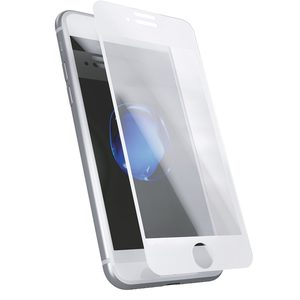 Skärmskydd härdat glass iPhone 6/6s/7/8 Plus 3D Full cover White frame
