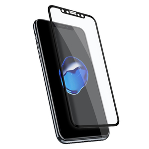 Skärmskydd härdat glass iPhone X 3D Full cover Black frame