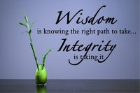 Väggdekor - Wisdom is knowing the right path to take