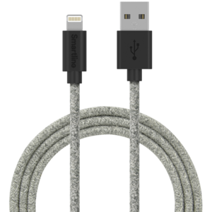 SmartLine USB cable Lightning 2m Fabric light grey