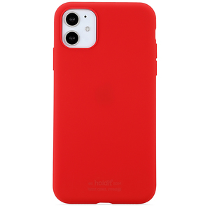 Holdit Mobilskal Silicone iPhone 11 Ruby Red