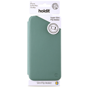 Holdit Slim Flip Wallet iPhone 11 Pro Max Moss Green