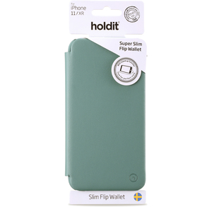 Holdit Slim Flip Wallet iPhone 11 Pro Moss Green