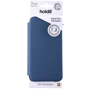 Holdit Slim Flip Wallet iPhone 11 Navy Blue