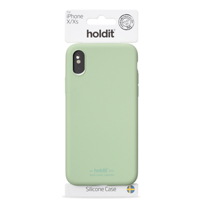 Holdit Mobilskal Silicone iPhone X/Xs Jade Green