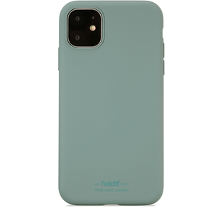 Holdit Mobilskal Silicone iPhone 11 Moss Green