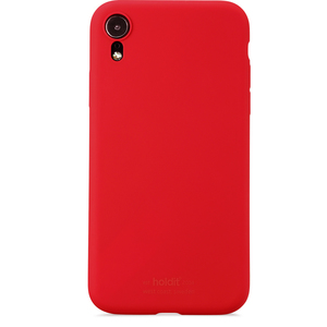Holdit Silicone Case iPhone XR Ruby Red